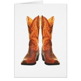 Cowgirl & Cowboy Western Boots Card
