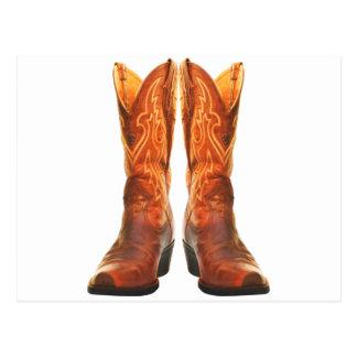 Cowgirl & Cowboy Western Boots Postcard
