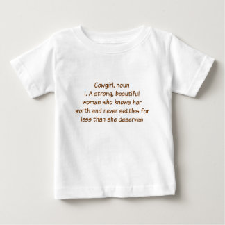 Cowgirl Definition Baby T-Shirt