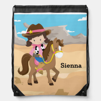 Cowgirl Drawstring Bags