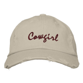 Cowgirl Embroidered Stone Ball Cap Womens Torn
