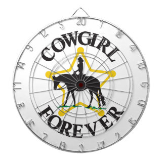Cowgirl Forever Dart Board