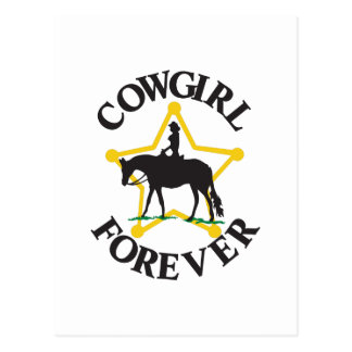 Cowgirl Forever Postcard