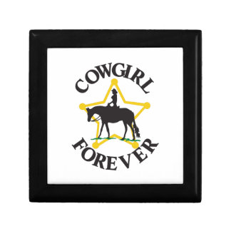 Cowgirl Forever Small Square Gift Box