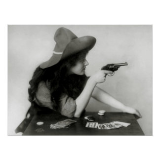 Cowgirl Gambler: 1912 Poster