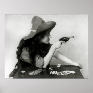 Cowgirl Gambler: 1912 Poster