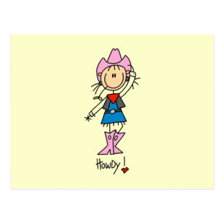 Cowgirl in Pink T-shirts and Gifts Postcard