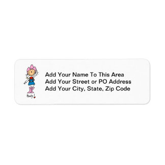 Cowgirl in Pink T-shirts and Gifts Return Address Label