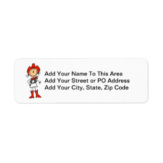 Cowgirl in Red T-shirts and Gifts Return Address Label