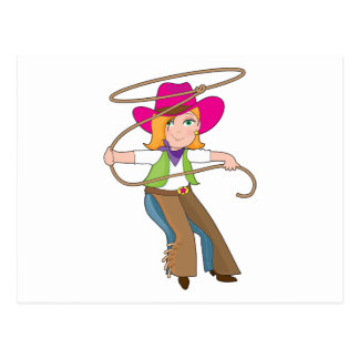 Cowgirl Kid Postcard