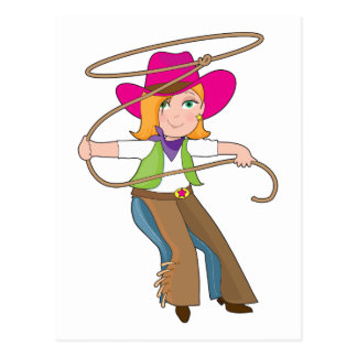 Cowgirl Kid Post Card
