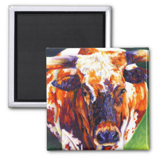 Cowgirl - Longhorn Cow Magnet