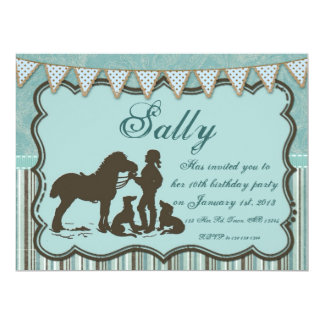 Cowgirl on Blues Personalized Invite