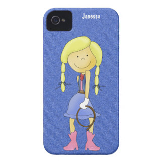 Cowgirl on Denim and iPhone Case