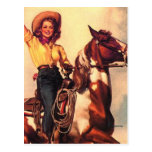 Cowgirl on Her Horse