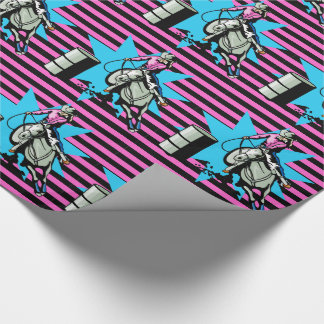 Cowgirl On Horse Barrel Racer Any Occassion Wrapping Paper