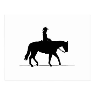 Cowgirl on Horse Post Card