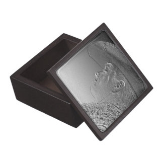 Cowgirl on silver metallic background premium gift boxes