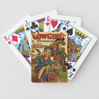 Cowgirl out on the Range Bicycle Playing Cards