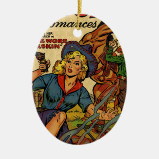 Cowgirl out on the Range Ceramic Ornament