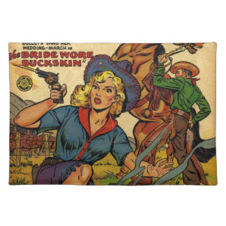 Cowgirl out on the Range Placemat