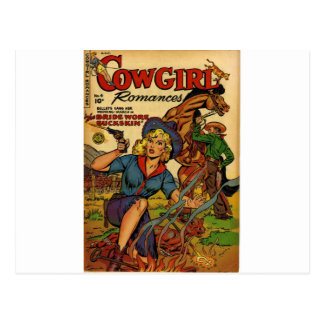 Cowgirl out on the Range Postcard