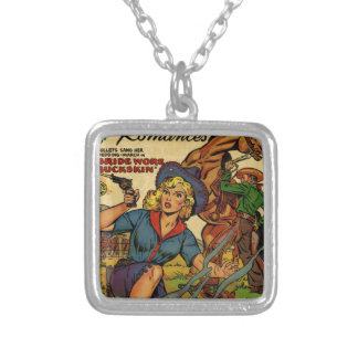 Cowgirl out on the Range Silver Plated Necklace