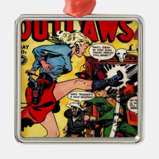 Cowgirl Outlaw Metal Ornament