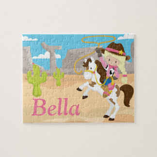 Cowgirl Personalized Name Puzzle