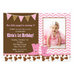 Cowgirl Photo Birthday Invitations