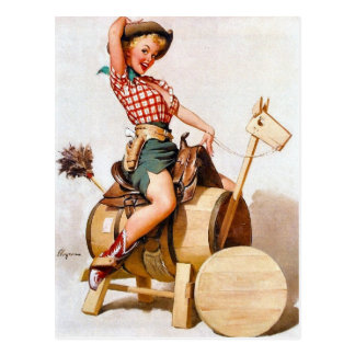 Cowgirl Pin-Up 2 Postcard