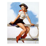 Cowgirl Pinup Post Cards