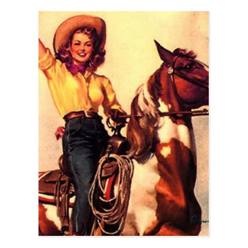 Cowgirl Post Cards