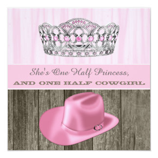 Cowgirl Princess Baby Shower 13 Cm X 13 Cm Square Invitation Card