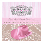 Cowgirl Princess Birthday Party Invites