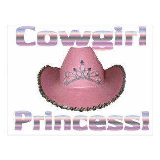 Cowgirl princess postcard