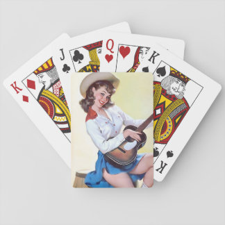 Cowgirl Retro Pinup Poker Deck