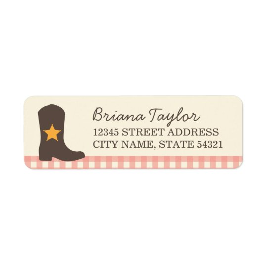 Cowgirl Return Address Labels