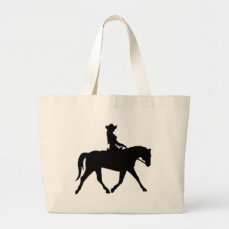 Cowgirl Riding Her Horse Canvas Bags