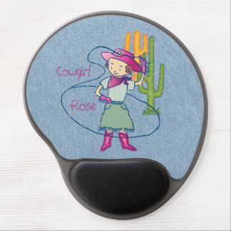 Cowgirl Rose Rodeo Champ Lasso Tricks Gel Mouse Pad