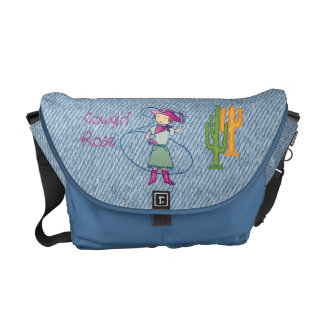 Cowgirl Rose Rodeo Champ Lasso Tricks Messenger Bag