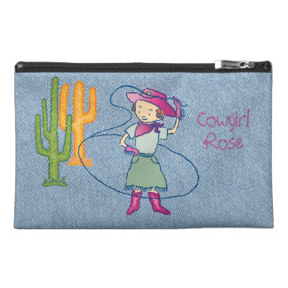Cowgirl Rose Rodeo Champ Lasso Tricks Travel Accessory Bag