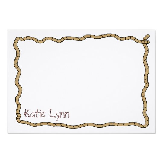 Cowgirl Roundup Flat Thank You Card