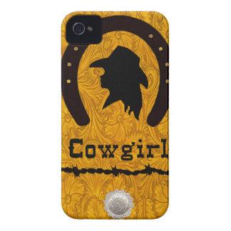 """Cowgirl Silhouette"" Western Blackberry Case"
