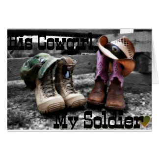Cowgirl Soldier Card