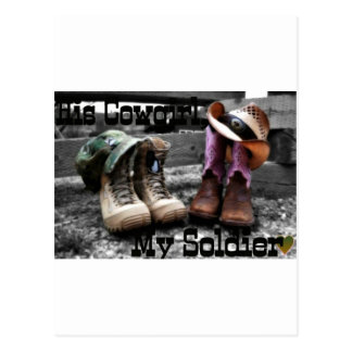 Cowgirl Soldier Postcard