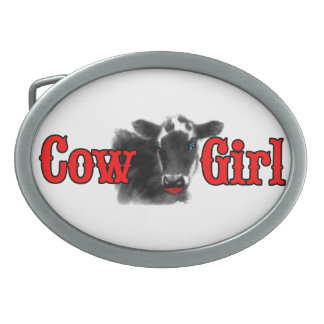 Cowgirl Western Theme Funny Cow Girl Belt Buckles