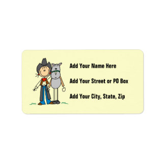 Cowgirl With Horse T-shirts and Gifts Address Label