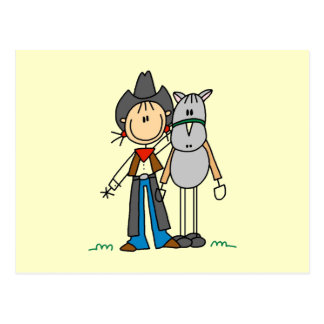 Cowgirl With Horse T-shirts and Gifts Postcards
