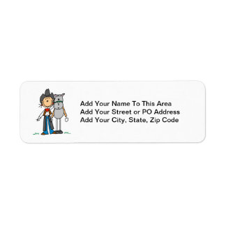 Cowgirl With Horse T-shirts and Gifts Return Address Label